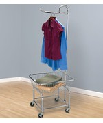 Rolling Laundry Cart - Chrome