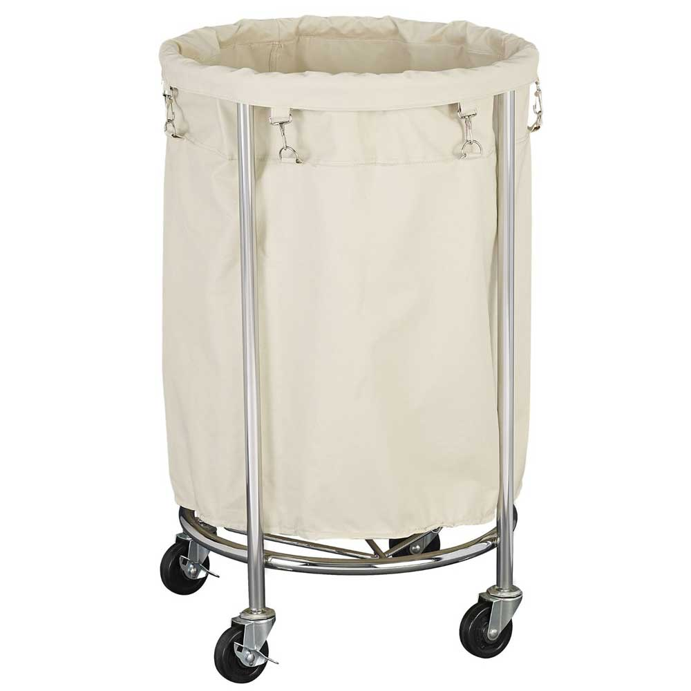 Laundry Hamper Round Commercial Duty In Clothes Hampers