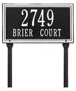 Standard Lawn Address Plaque - Double Line