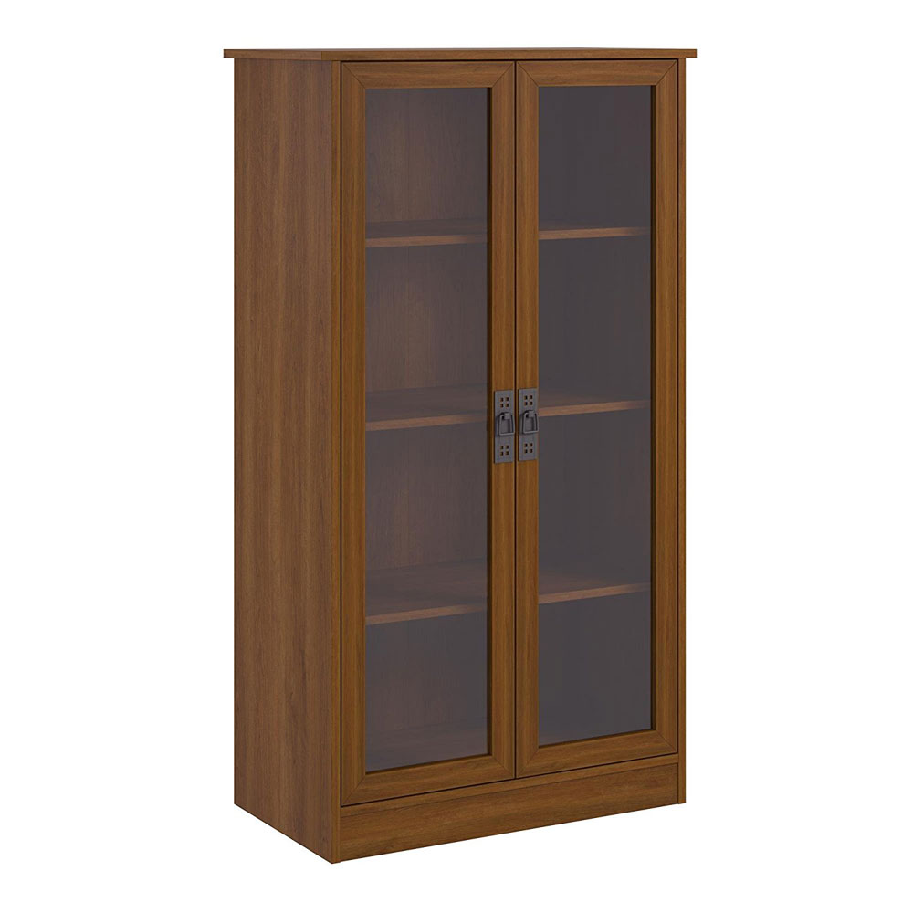 Tall Bookcase With Glass Doors In Bookcases