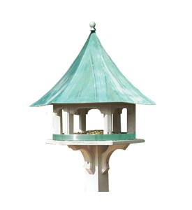 Lazy Hill Farm Carousel Feeder with Blue Verde Copper Roof by Good Directions Image