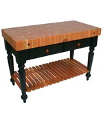 Le Rustica Kitchen Island with Shelf