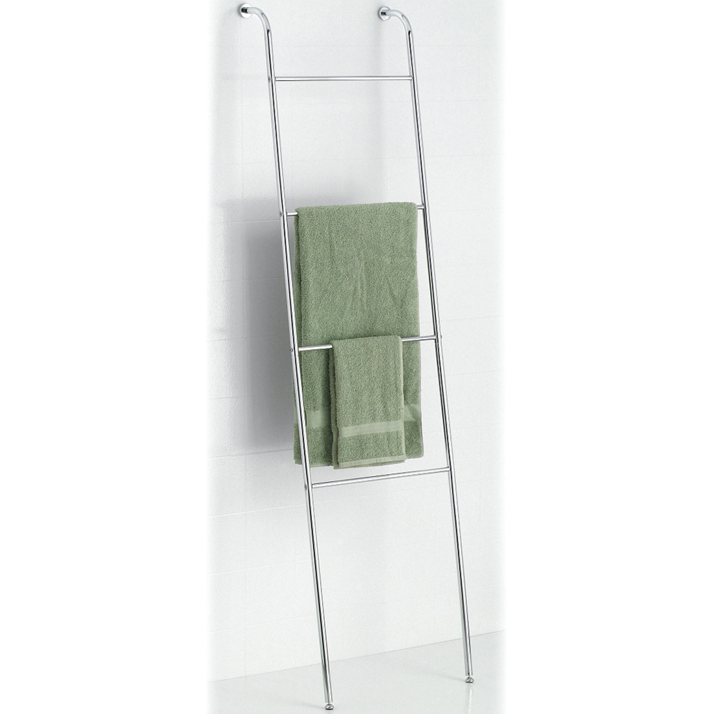 Great Leaning Towel Ladder   Chrome Image