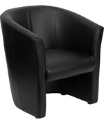 Leather Barrel-Shaped Guest Chair by Flash Furniture