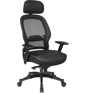 Leather Chair with Mesh Back Image
