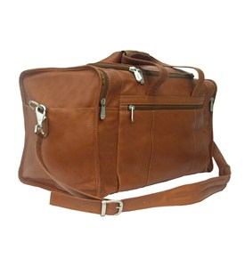 Leather Duffel with End Pockets by Piel Leather Image