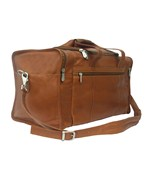 Leather Duffel with End Pockets by Piel Leather