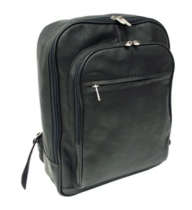 Leather Laptop Backpack with Front Pocket by Piel Leather Image