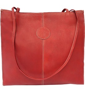 Leather Market Tote Bag - Medium Image
