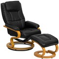 Leather Recliner with Footrest