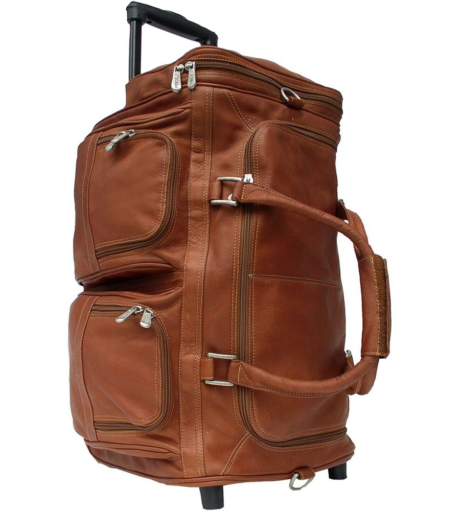 Leather Rolling Duffle Bag in Duffle Bags