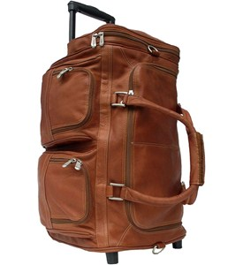Leather Rolling Duffle Bag Image