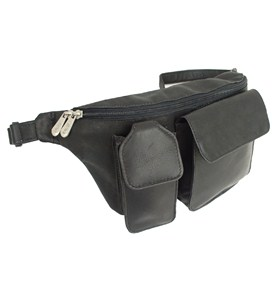 Leather Waist Bag with Camera and Cell Pockets by Piel Leather Image