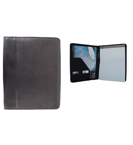 Leather Zippered Padfolio with Notepad by Piel Leather Image