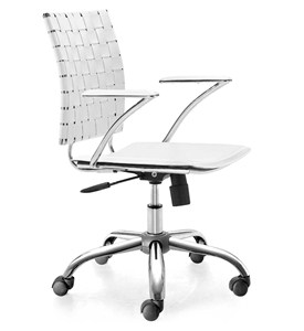 Leatherette Criss Cross Office Chair Image