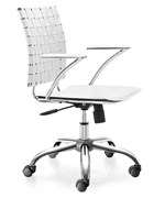 Leatherette Criss Cross Office Chair