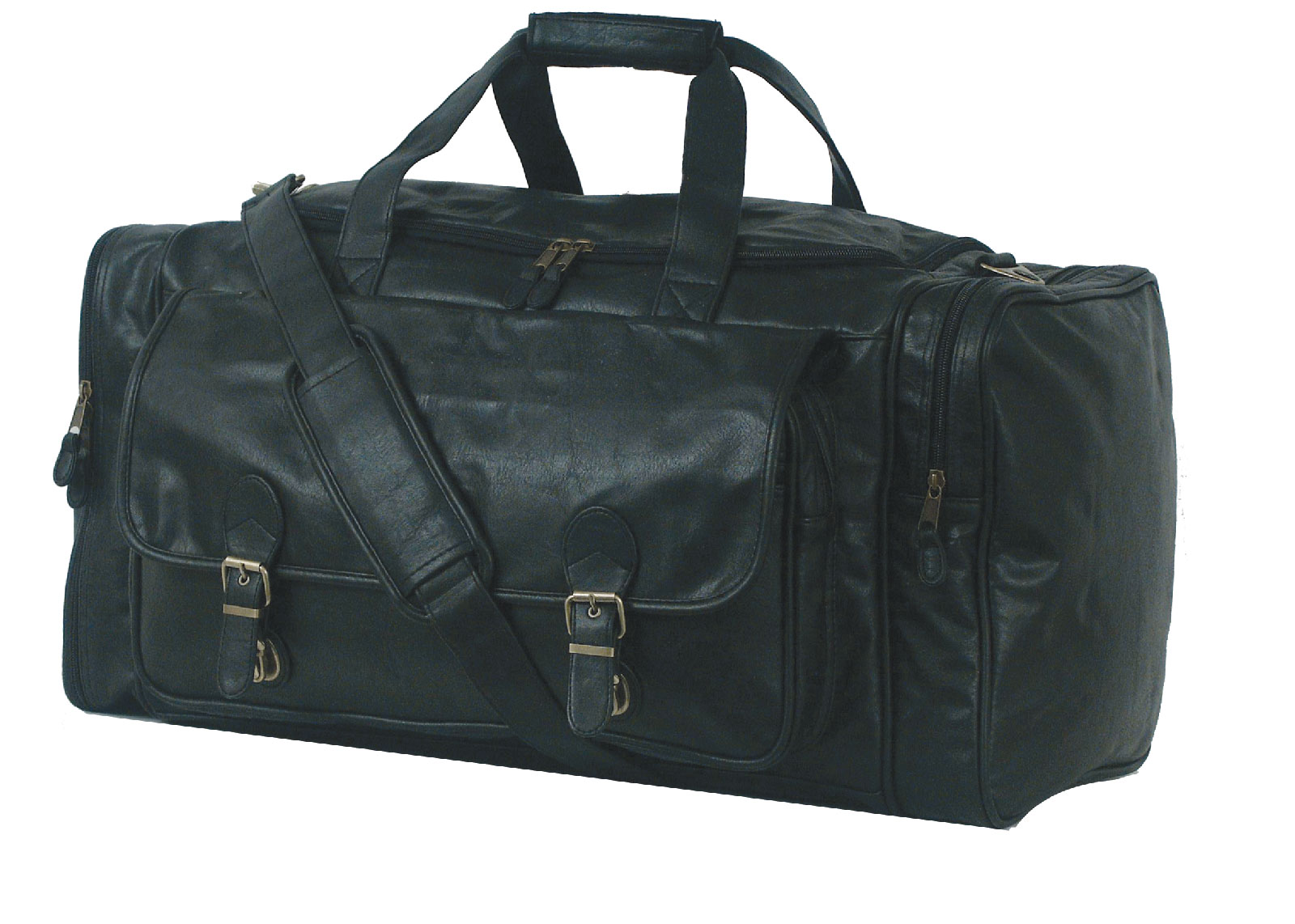 leatherette travel duffel bag large in duffle bags