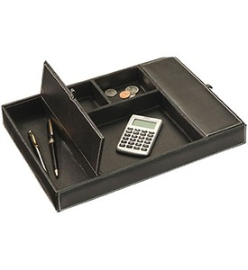 faux leather dresser desk valet in desk accessories. Black Bedroom Furniture Sets. Home Design Ideas