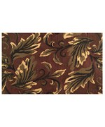 Leaves Latex Back Jute Rug by Imports Decor