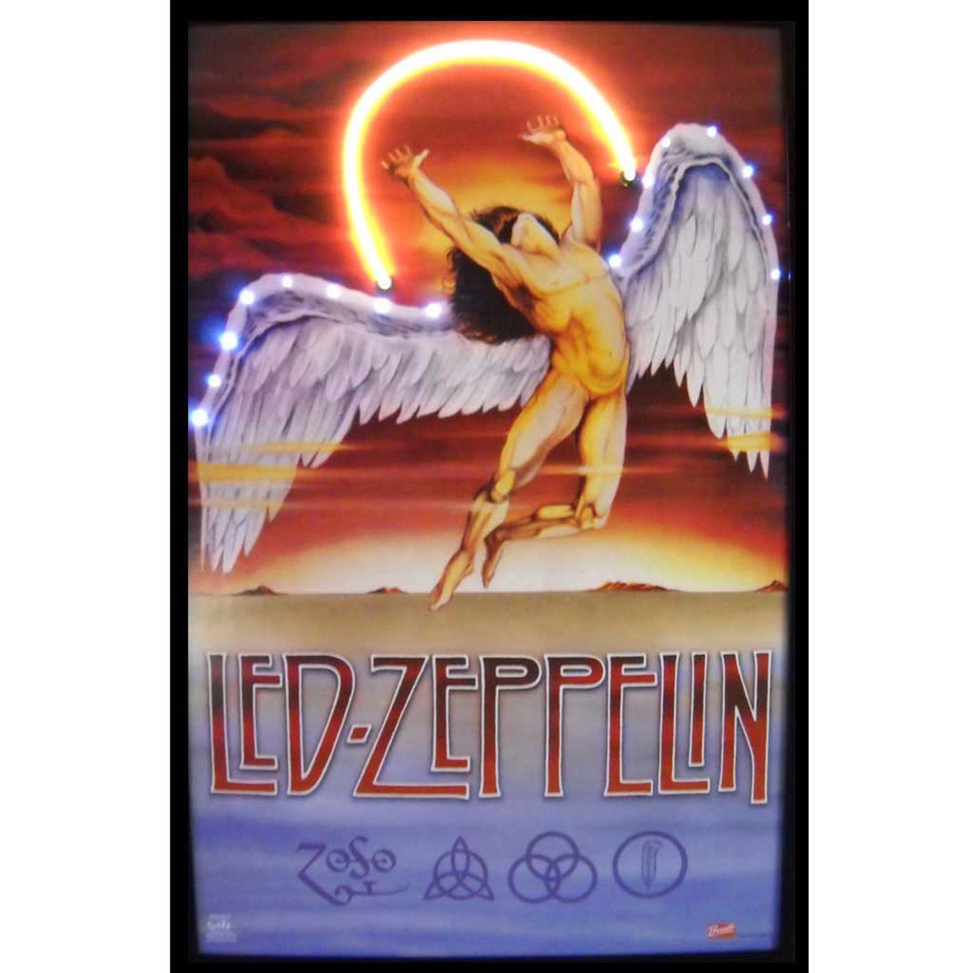 Led Zeppelin Neon LED Art Picture By Neonetics In Neon