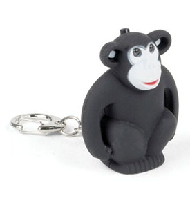 Monkey Key Chain and LED Flashlight Image