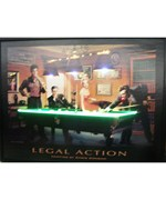 Legal Action Neon LED Art Picture by Neonetics