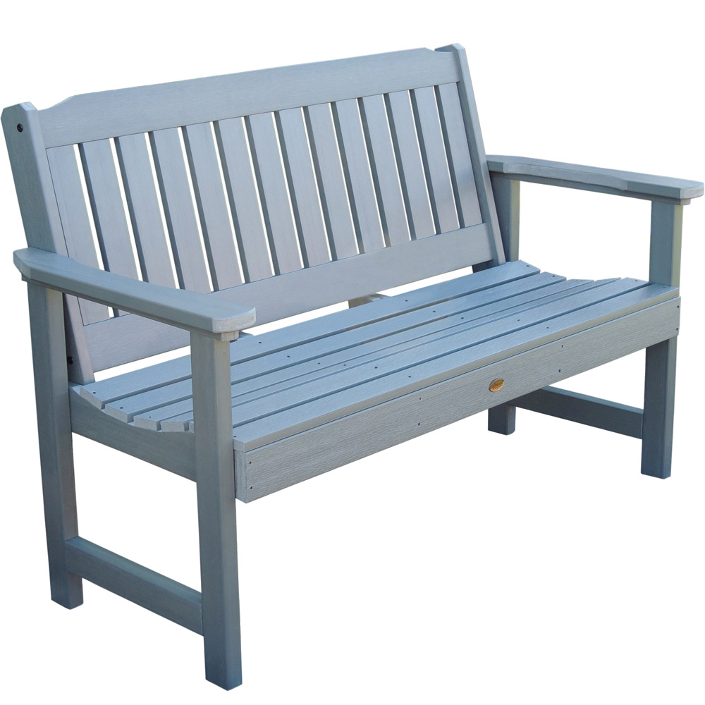 White Plastic Outdoor Benches Picture