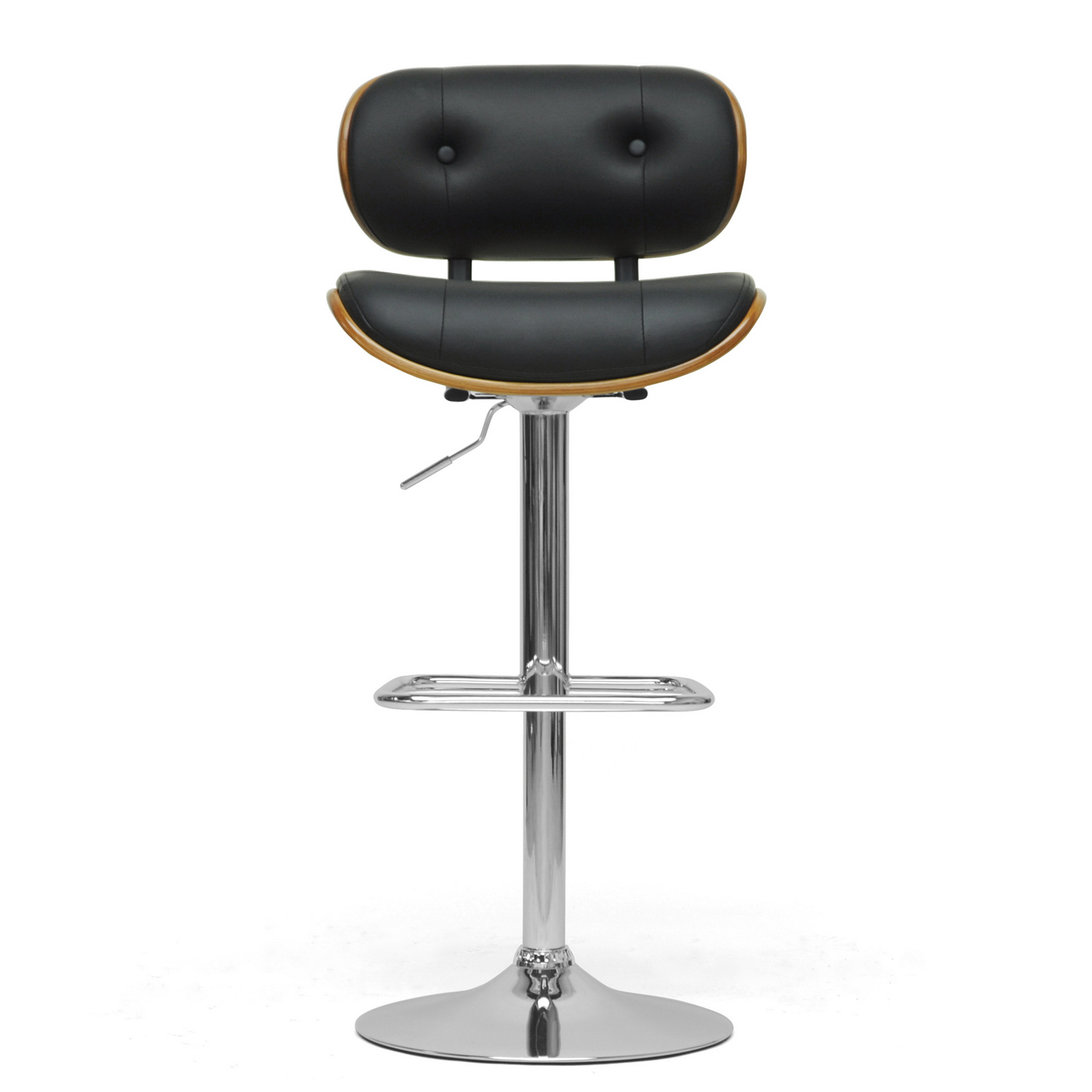Contemporary Bar Stools ~ Contemporary bar stool walnut and black in modern stools