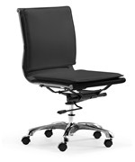 Lider Plus Armless Office Chair by Zuo Modern