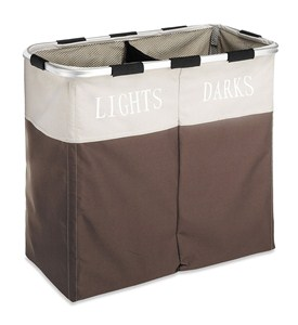 Lights and Dark Double Laundry Sorter - Java Brown Image