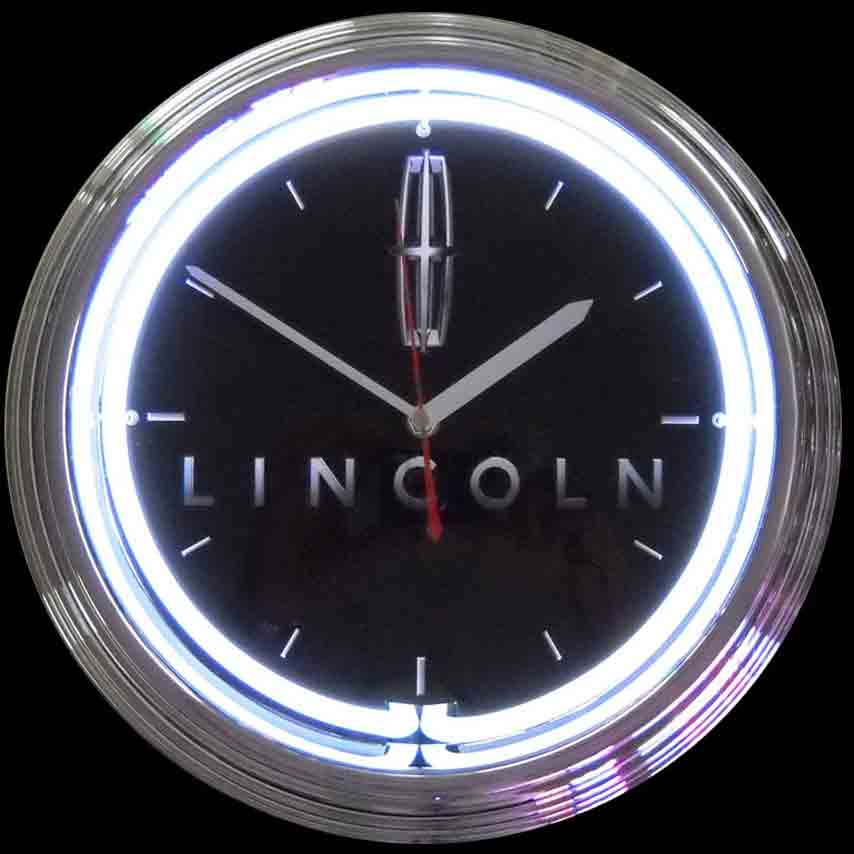 Lincoln Neon Clock by Neonetics in Wall Clocks