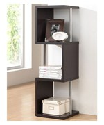 Lindy 3-Tier Dark Brown Modern Display Shelf by Wholesale Interiors