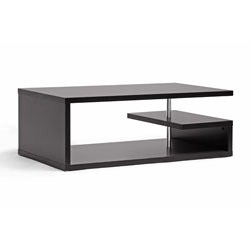 Lindy Dark Brown Modern Coffee Table by Wholesale Interiors Image