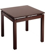 Linea End Table - Espresso