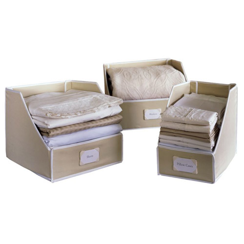 Collapsible Linen Closet Storage Bins Image