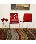 Lino Acrylic Dining Chairs - Set of 2 by Wholesale Interiors, Inc.