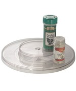 Two-Level Clear Lazy Susan Turntable - 11 Inch