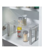 Stainless Steel and Clear Plastic Helper Shelf