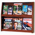 Slope Solid Wood Literature Display Rack - 12 Pocket by Wooden Mallet