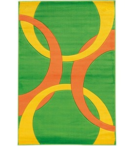 Living Room Area Rug - Goldenrod and Lime Image