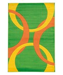 Living Room Area Rug - Goldenrod and Lime