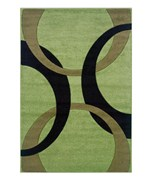 Living Room Area Rug - Black and Lime