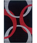 Living Room Area Rug - Red and Black