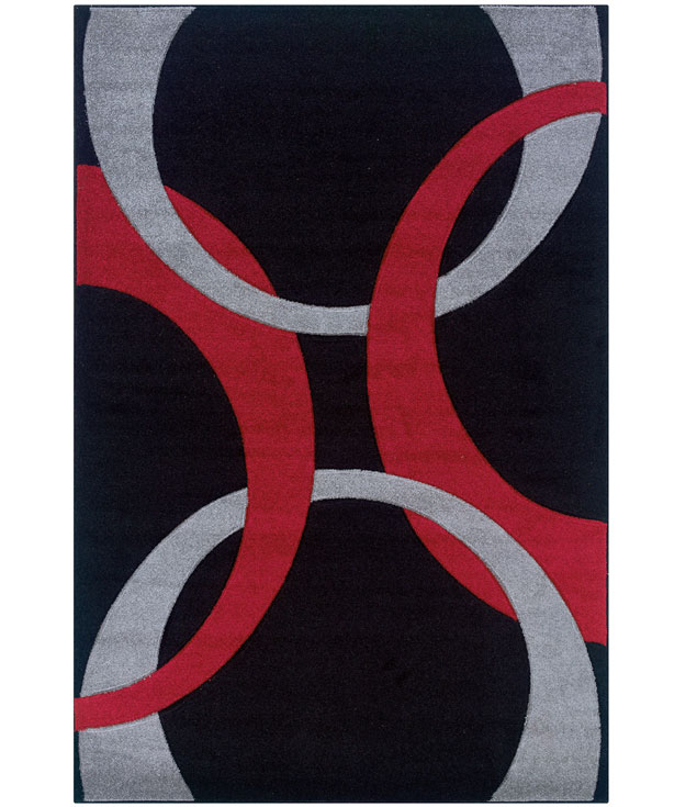 Living Room Area Rug   Red And Black ...