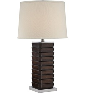 Contemporary Table Lamp - Dark Walnut Image