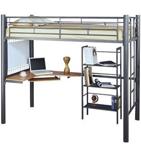 Loft Bed with Desk Underneath Image