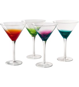 Colorful Martini Glasses - Fizzy Style (Set of 4) Image