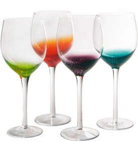 Long Stem Wine Glasses - Fizzy Style (Set of 4) Image