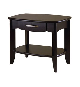 Low Espresso Wood End Table Image