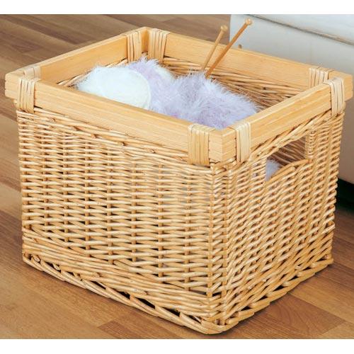 large willow wicker storage basket in shelf bins. Black Bedroom Furniture Sets. Home Design Ideas